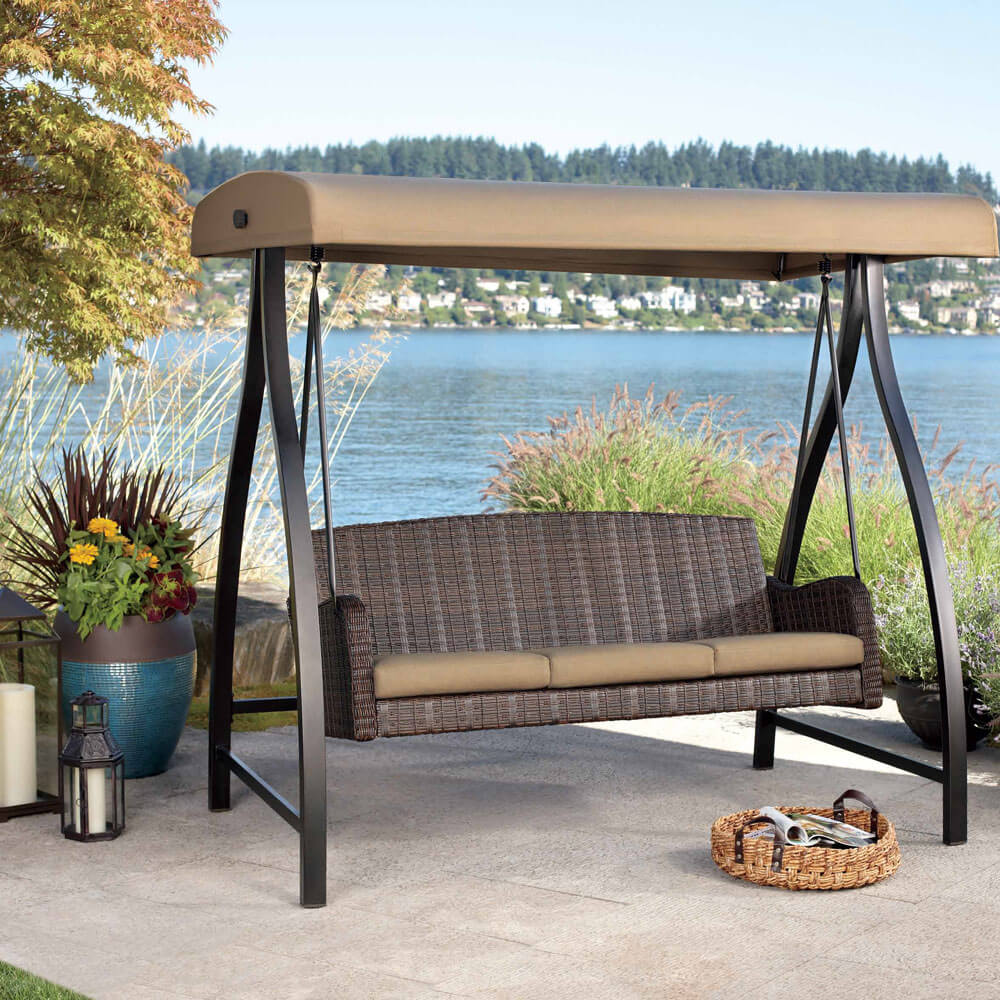 Porch Swing with Canopy : garden bench with canopy - memphite.com