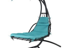 The Best Choice Products Hanging Chaise Lounger Chair Comes In A Lovely  Blue Color And Is Ideal To Have In Any Home. This Is A Chair That You Can  Set Up In ...